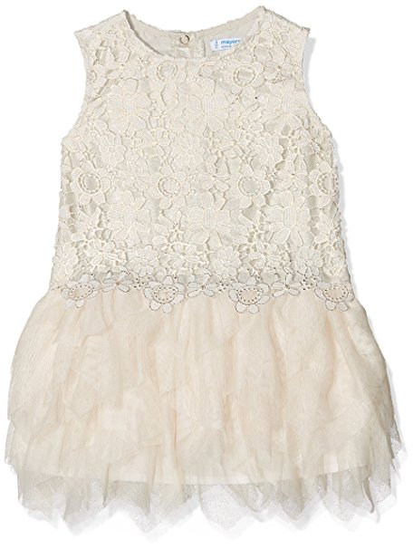 MAYORAL CHAMPAGNE RUFFLED DRESS SIZES 3-5