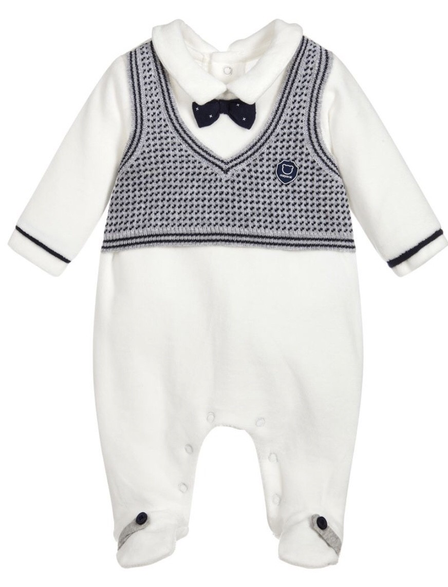 MAYORAL ONE PIECE SLEEPER WITH VEST AND BOW TIE