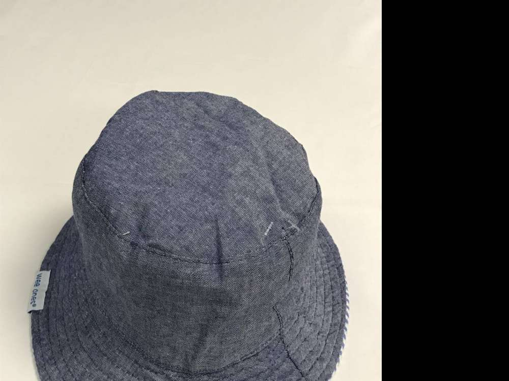 WEE ONES REVERSIBLE DENIM SUN HAT SIZES 0-18 MONTHS