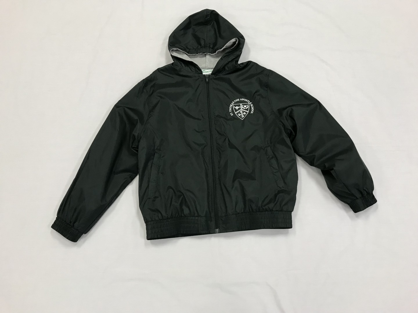 Lined Windbreaker with Hood