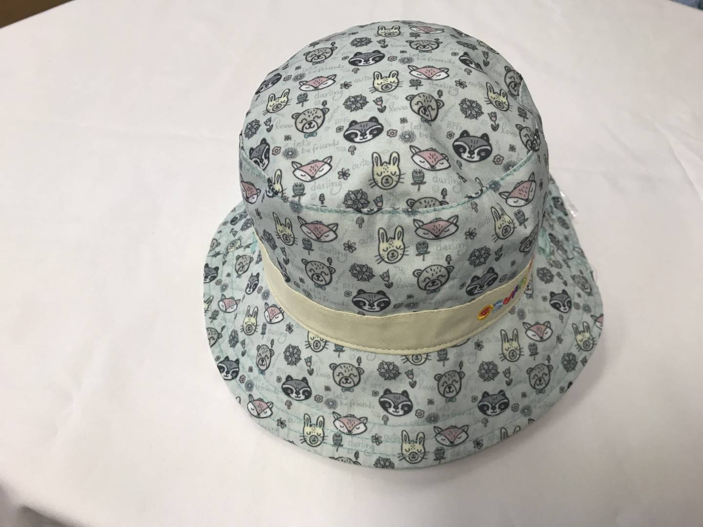 SUNNY DAYZ REVERSIBLE ANIMALS HAT SIZES 0-24 MONTHS
