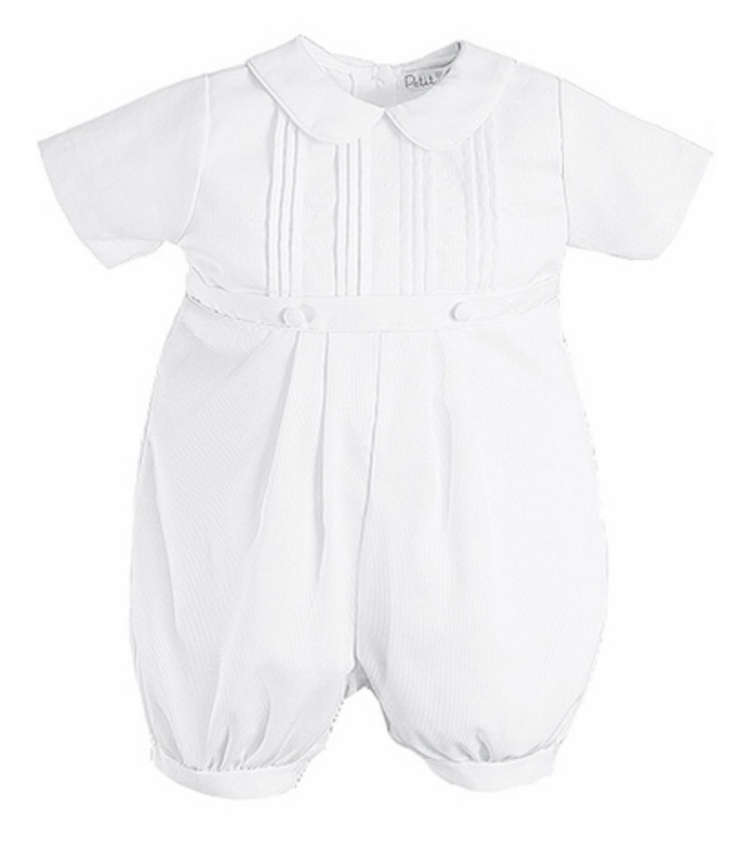 PETIT AMI KNICKER  1 PC CHRISTENING SUIT WITH HAT