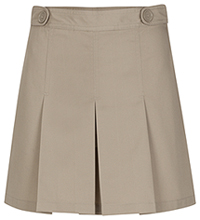Girls Adjustable Waist Hipster Skort Khaki