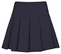 Girls All Over Pleated Navy Skort