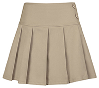 Girls All Over Pleated Khaki Skort