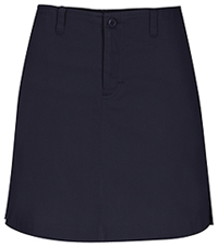 Girls Stretch Fly Front Navy Skort