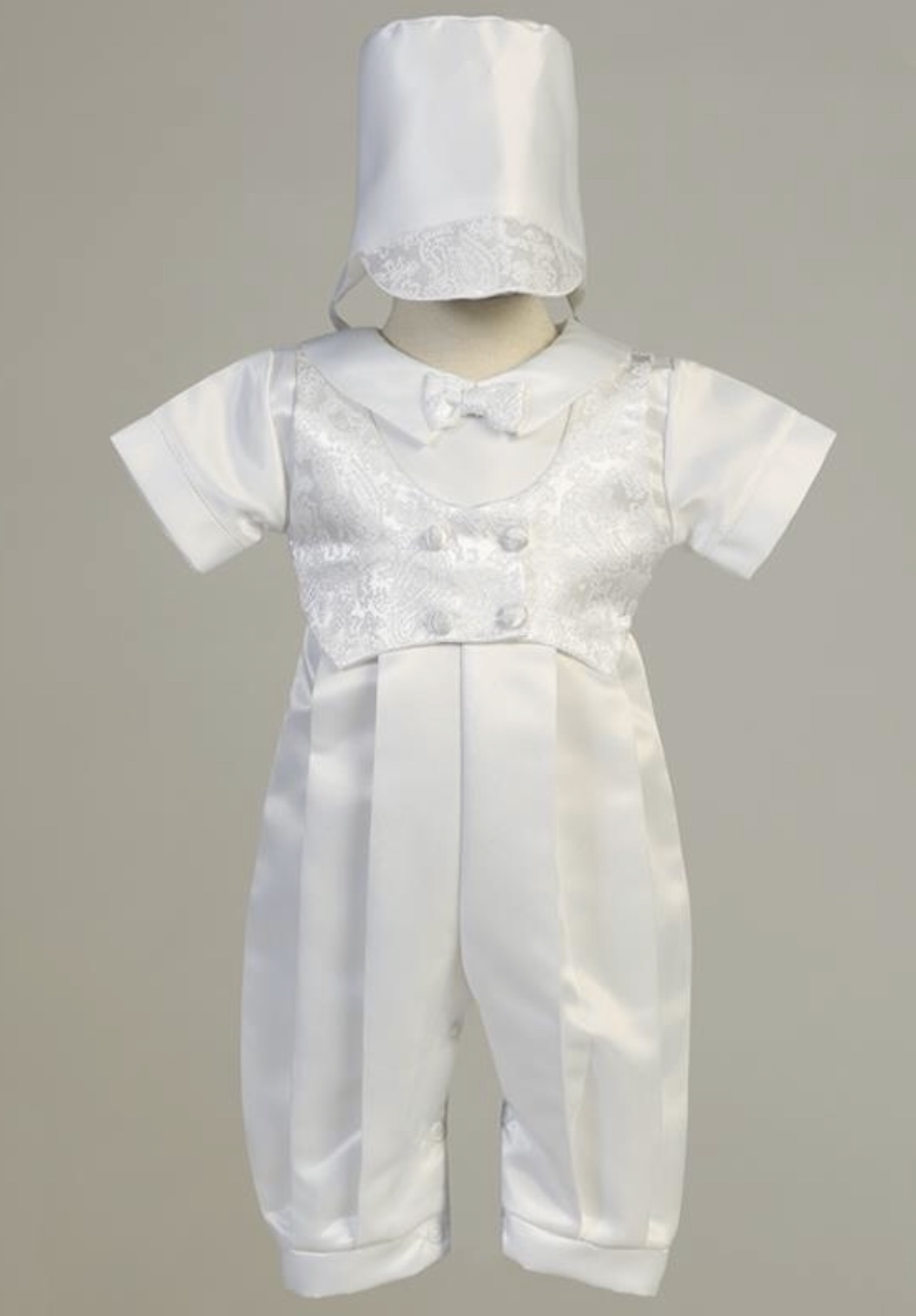 SWEA PEA & LILLI 1 PC CHRISTENING SUIT WITH HAT