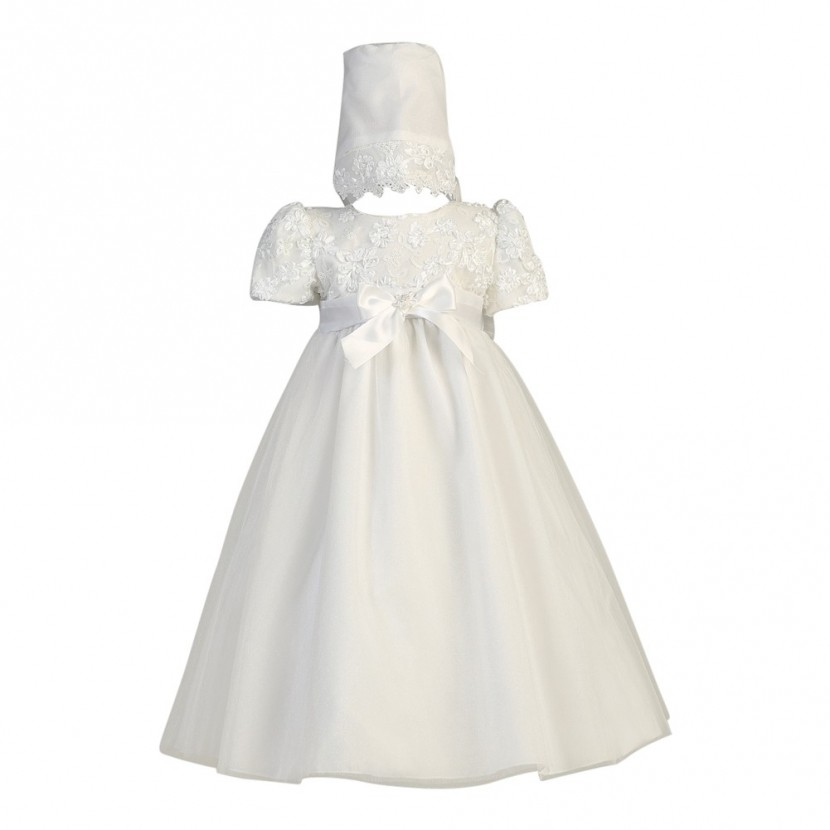LITO  CHRISTENING GOWN WITH BONNET