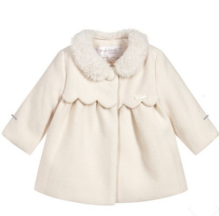 MAYORAL NEWBORN COAT IN IVORY