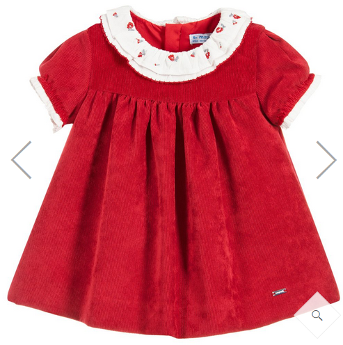 MAYORAL RED CORDUROY DRESS
