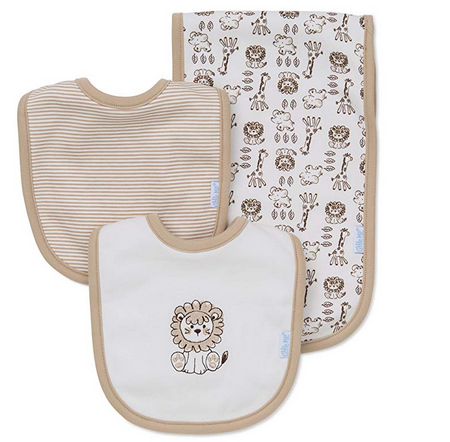 SAFARI BURP AND BIB SET