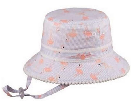 MILLYMOOK AND DOZER BABY GIRLS REVERSIBLE PINK BUCKET HAT CAMILLE