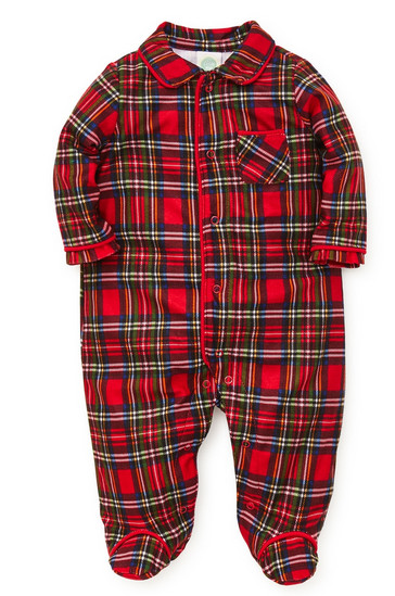 LITTLE ME RED PLAID HOLIDAY SLEEPER FOR BOYS