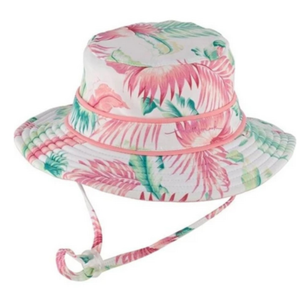 MILLYMOOK AND DOZER BABY GIRLS WHITE REVERSIBLE BUCKET HAT GABI