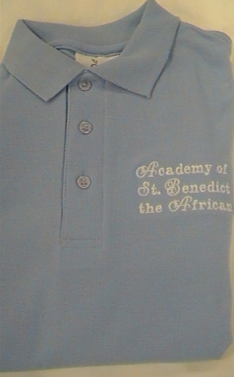 Academy of St. Benedict the AfricanLight BlueShort Sleeve Polo