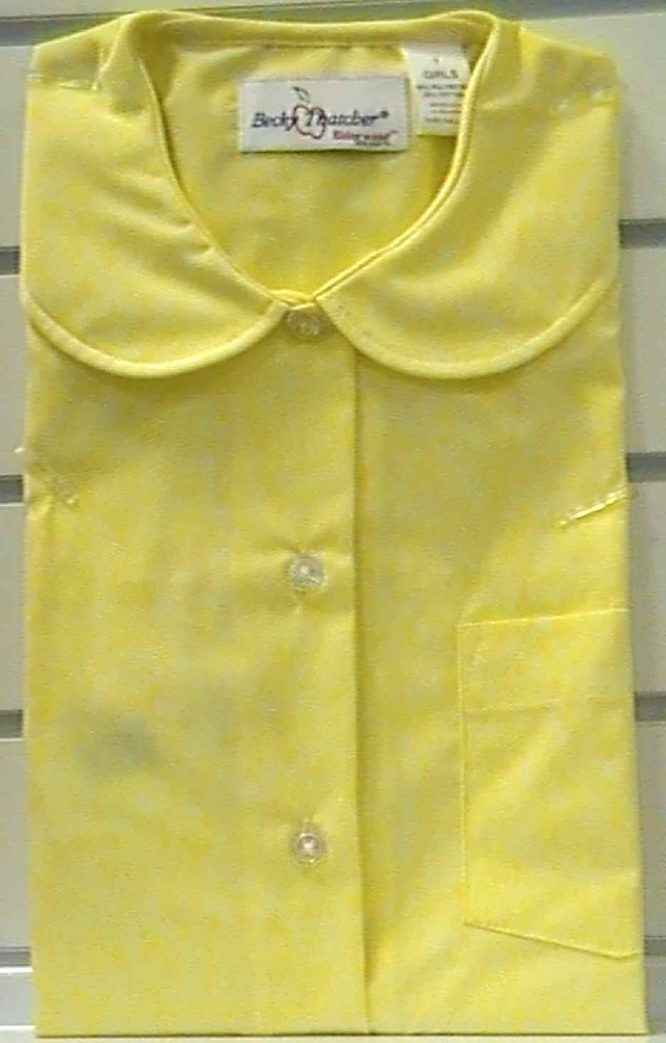 YellowShort SleevePeter Pan Blouse