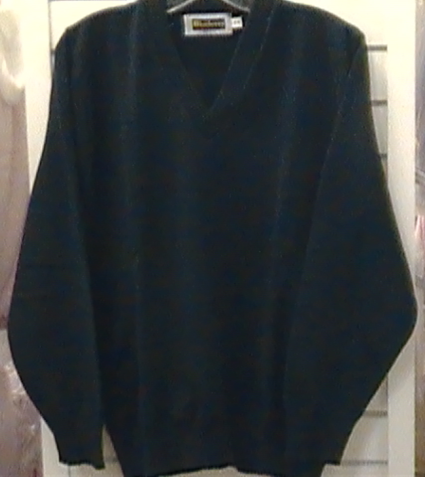 Hunter Green V-neck Pullover
