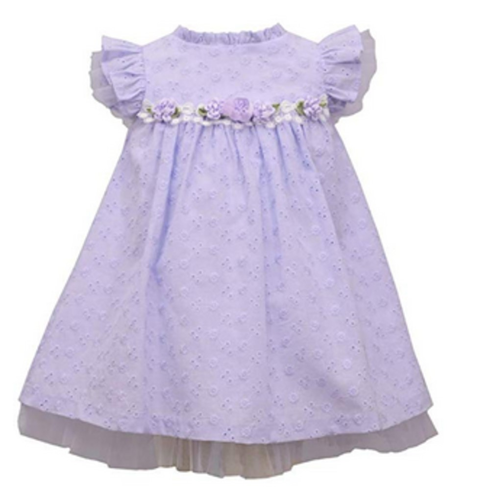 Bonnie Jean lavender spring eyelet dress