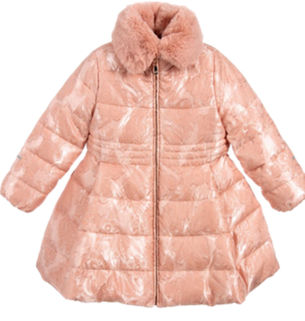 Abel & Lula girls' pink padded coat