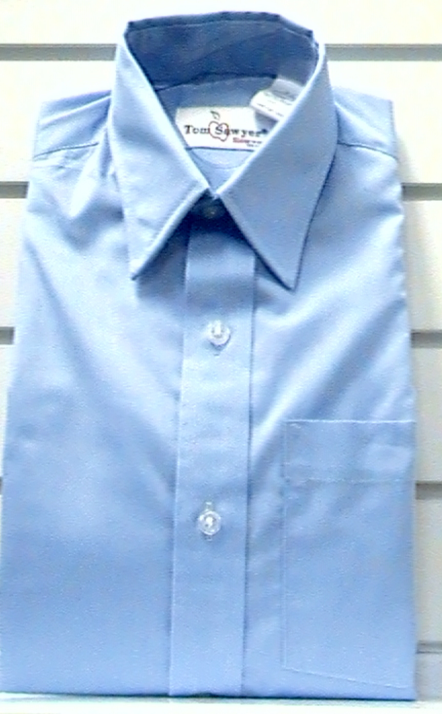 BlueLong SleeveBroadcloth Shirt